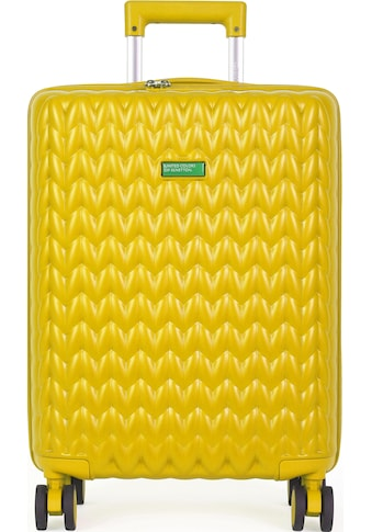 United Colors of Benetton Hartschalen-Trolley »Knit, 60 cm, yellow«, 4 Rollen kaufen