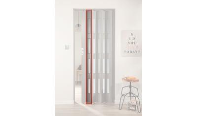 FORTE Türerweiterung , Zusatzlamelle für Falttür »Elvira«, grau gewebt + 4 Fenster kaufen