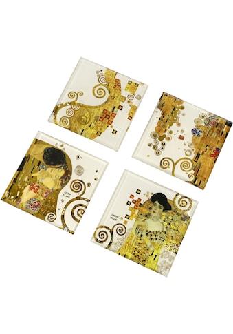 Goebel Glasuntersetzer »Gustav Klimt«, (Packung, 4 tlg.), mit unterschiedlichen... kaufen
