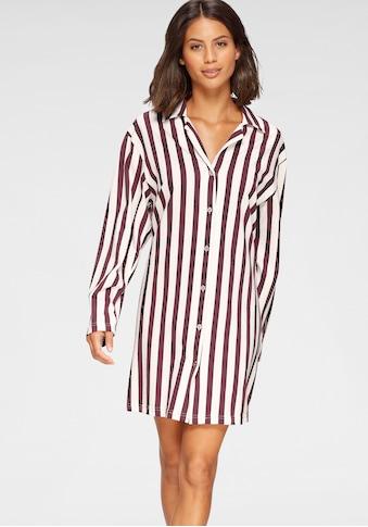 Cybèle Nachthemd, gestreift mit klassischem Hemdkragen kaufen