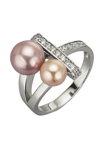 Zeeme Ring »925/ -  Sterling Silber Muschelkernperle Zirkonia we« kaufen