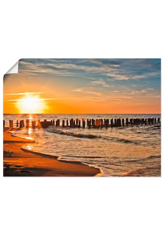 Artland Wandbild »Schöner Sonnenuntergang am Strand«, Strand, (1 St.), in vielen... kaufen