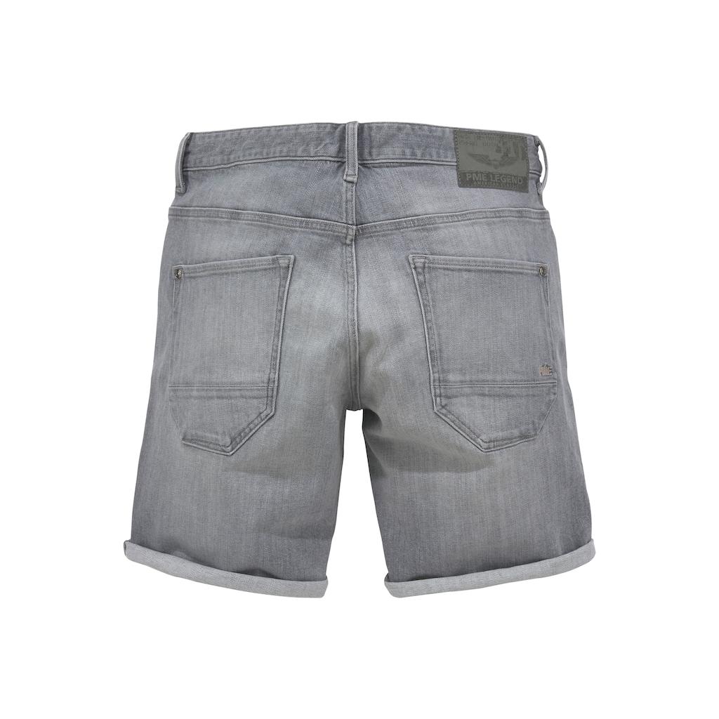 PME LEGEND Shorts, mit leichten Abriebeffekten
