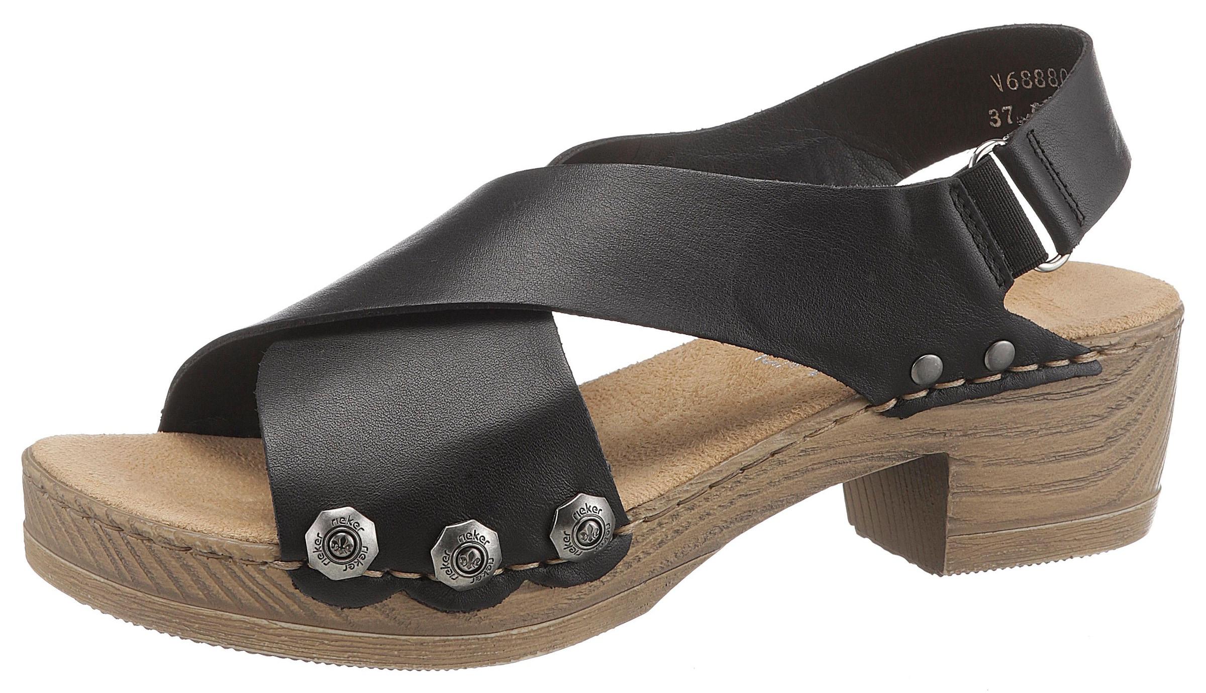 Zum Zu Schlupfen Sandalen Elegante Details Sandalette Rieker Damen Sandaletten Damenmode eIEDH2bWY9