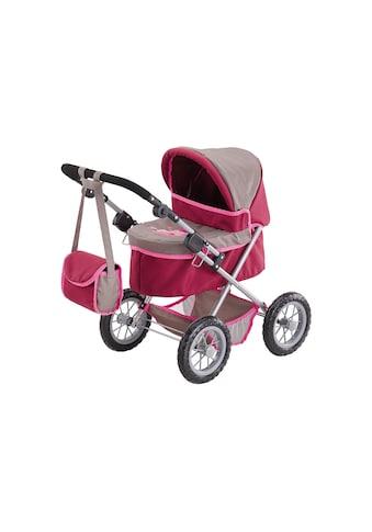 Bayer Puppenwagen »Trendy, Prinzessin rot/grau«, inkl. Wickeltasche kaufen