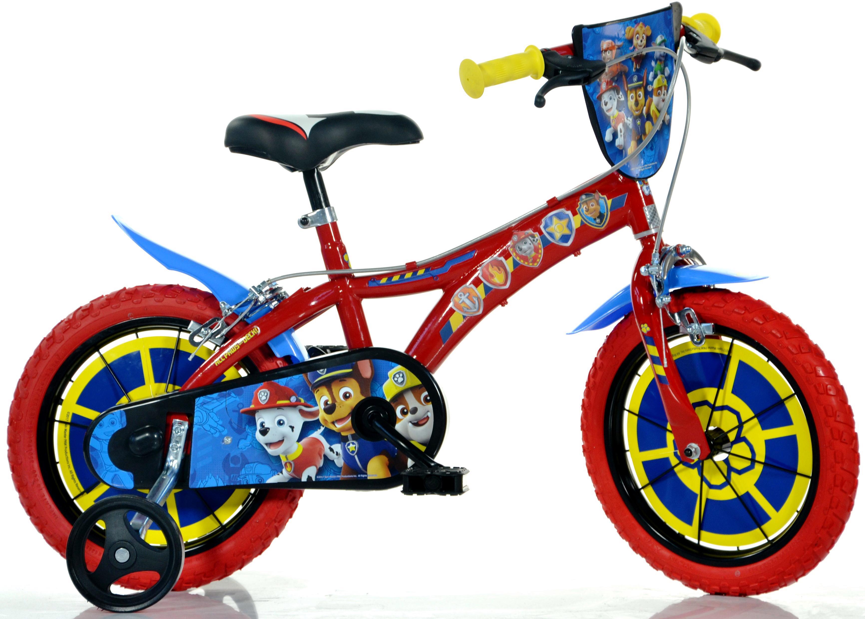 Dino Kinderfahrrad Paw Patrol rot Kinder Kinderfahrräder Fahrräder Zubehör