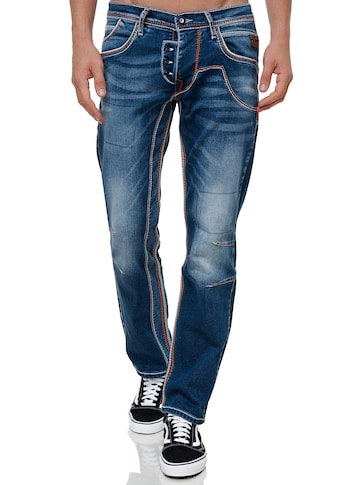 Rusty Neal Straight-Jeans »RUBEN 43«, mit auffälligen Ziernähten kaufen