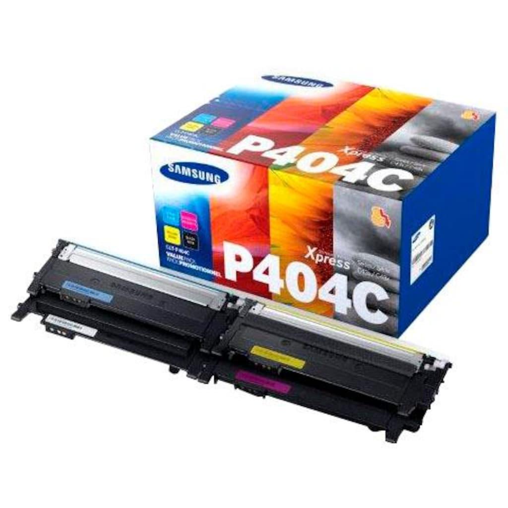 Samsung Tonerpatrone »Kombi-Pack CLT-P404C original, SU365A Schwarz, Cyan, Magenta, Gelb«