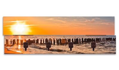 Artland Garderobenpaneel »Schöner Sonnenuntergang am Strand«, platzsparende... kaufen