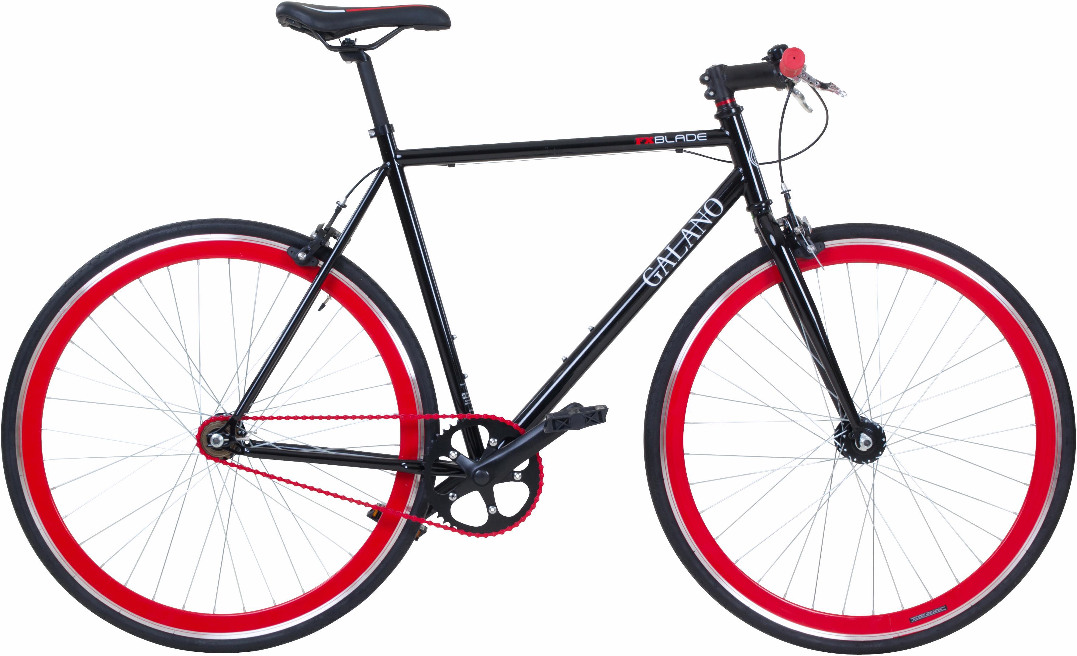 Galano Singlespeed Blade schwarz Damen Damenfahrräder Fahrräder Zubehör Fahrrad