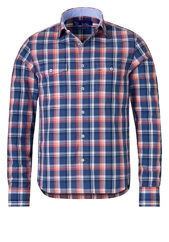 East Club London Langarmhemd im lässigen Karo-Design kaufen