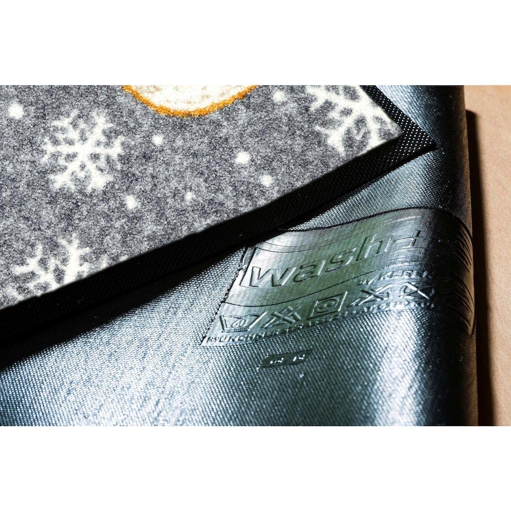 wash+dry by Kleen-Tex Fußmatte »Arne«, rechteckig, 7 mm Höhe, Schmutzfangmatte, In- und Outddor geeignet