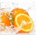 Artland Küchenrückwand »Orange mit Spritzwasser«