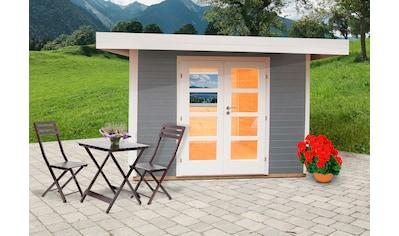 WOLFF FINNHAUS Gartenhaus »Relax Lounge B«, BxT: 356x314 cm, inkl. Fußboden kaufen