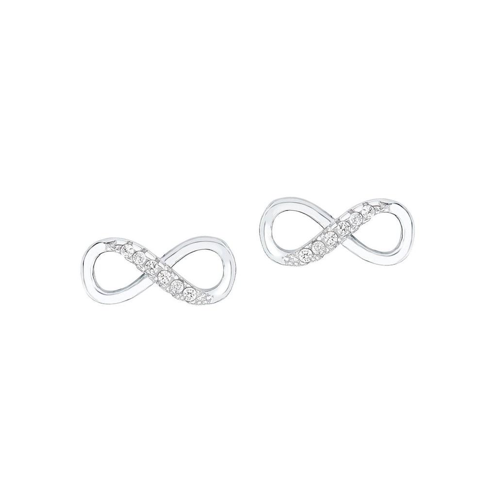 Amor Paar Ohrstecker »Infinity / Unendlichkeitsschleife«, mit Zirkonia