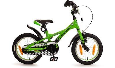 """Bachtenkirch Mountainbike »14"""" Kinderfahrrad """"KAWASAKI  -  Ninja"""", grün/schwarz«, 1 Gang kaufen"""