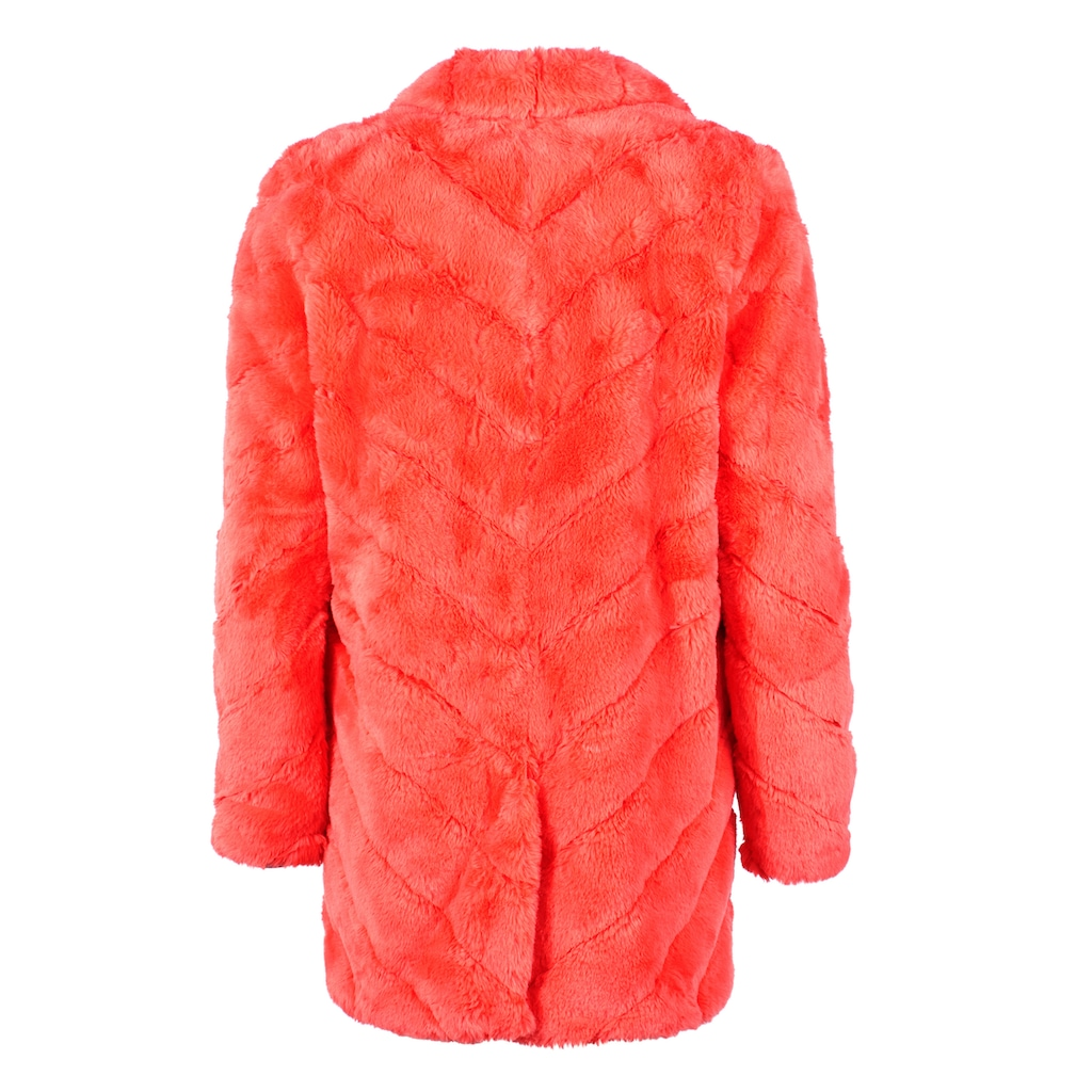 Maze knallige Fake Fur Jacke