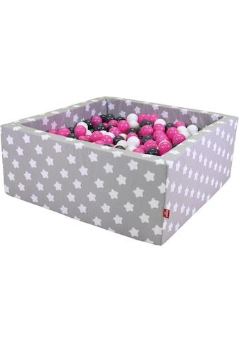 Knorrtoys® Bällebad »Soft, Grey white stars«, mit 100 Bällen creme/grey/rose; Made in... kaufen