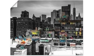 Artland Wandbild »Graffiti in New York«, Amerika, (1 St.), in vielen Größen & Produktarten -Leinwandbild, Poster, Wandaufkleber / Wandtattoo auch für Badezimmer geeignet kaufen
