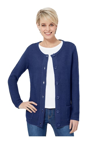 Casual Looks Strickjacke im Ripp - Design kaufen