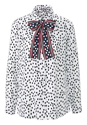 Basler Hemdbluse, mit getupftem Allover-Print kaufen