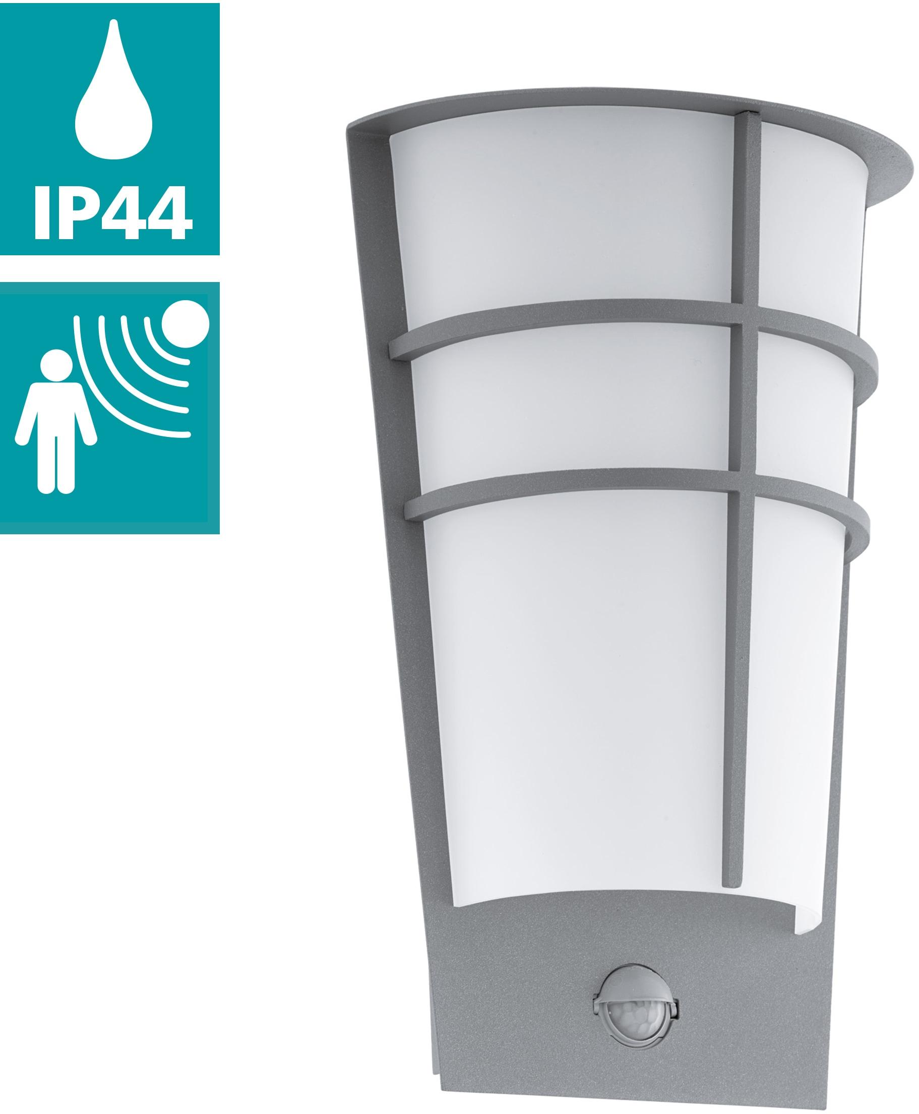 EGLO LED Außen-Wandleuchte BREGANZO1, LED-Board, Warmweiß, Eckmontage möglich, LED tauschbar
