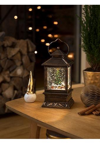KONSTSMIDE Dekolicht, 1 St., Warmweiß, LED Schneelaterne mit Weihnachtsmarkt kaufen