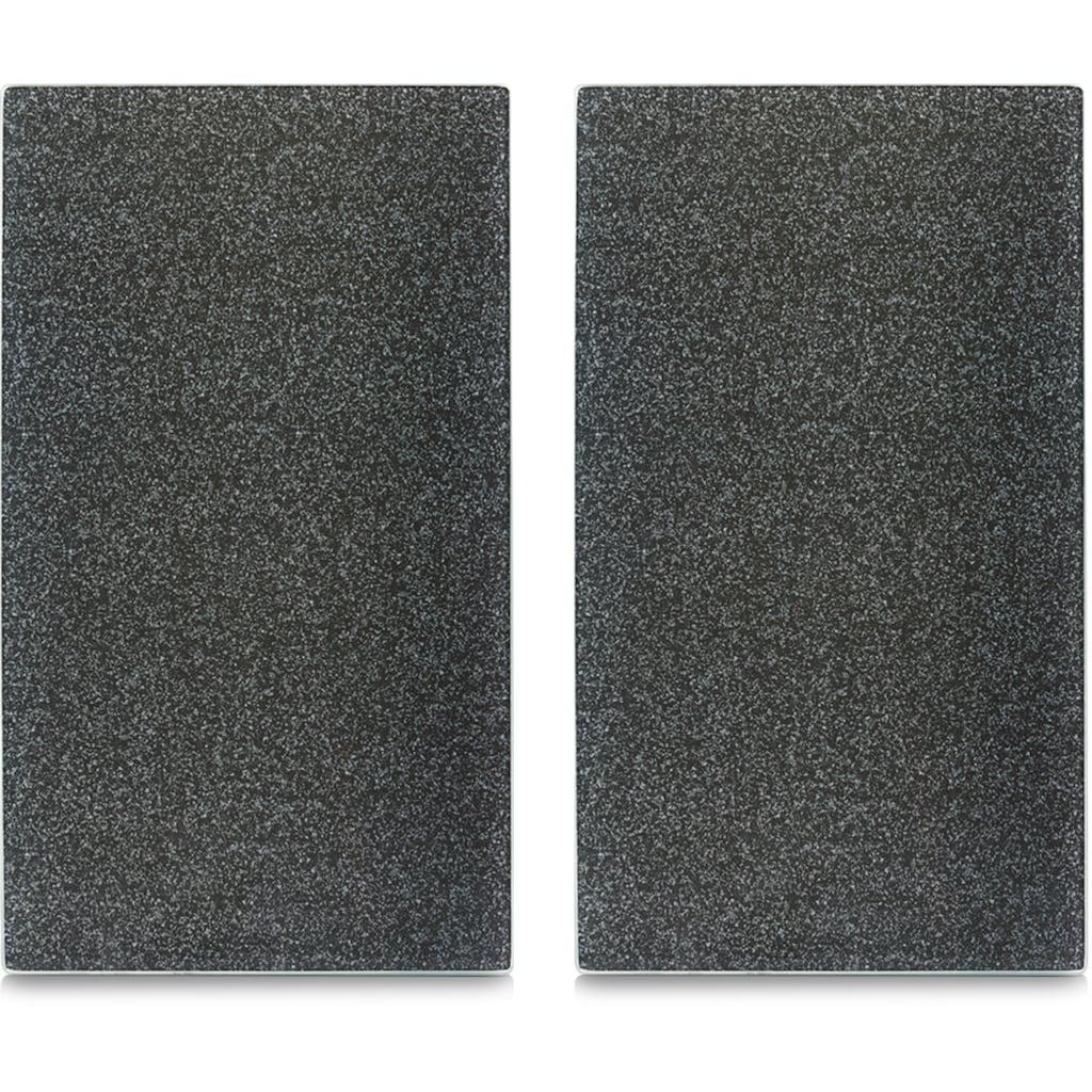 Zeller Present Schneide- und Abdeckplatte »Granit«, (Set, 2 tlg.), mit 6 Elastikfüßen pro Platte