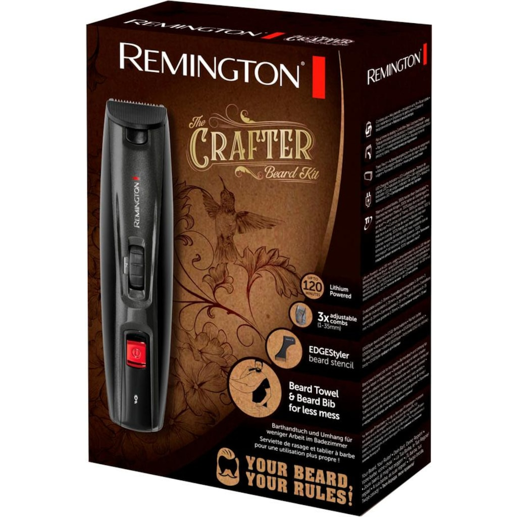 Remington Bartschneider »MB4050 The Crafter Beard Kit«, 3 Aufsätze, mit umfangreichem Zubehör für ein perfektes Styling