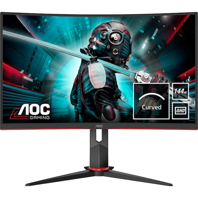 AOC »CQ27G2U/BK« Gaming-Monitor (27 Zoll, 2560 x 1440 Pixel, QHD, 1 ms Reaktionszeit, 144 Hz)