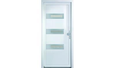 KM MEETH ZAUN GMBH Mehrzweck - Haustür »K367D«, nach Wunschmaß, rechts oder links, mit Griffgarnitur kaufen
