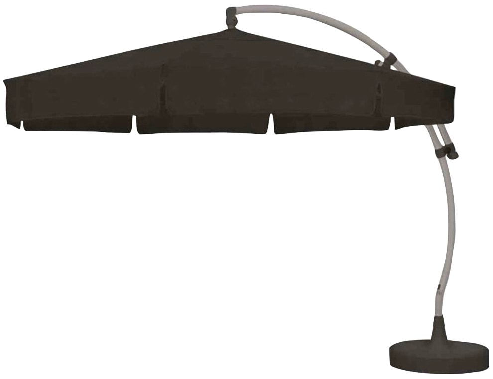 sungarden Sonnenschirm grau Sonnenschirme -segel Gartenmöbel Gartendeko