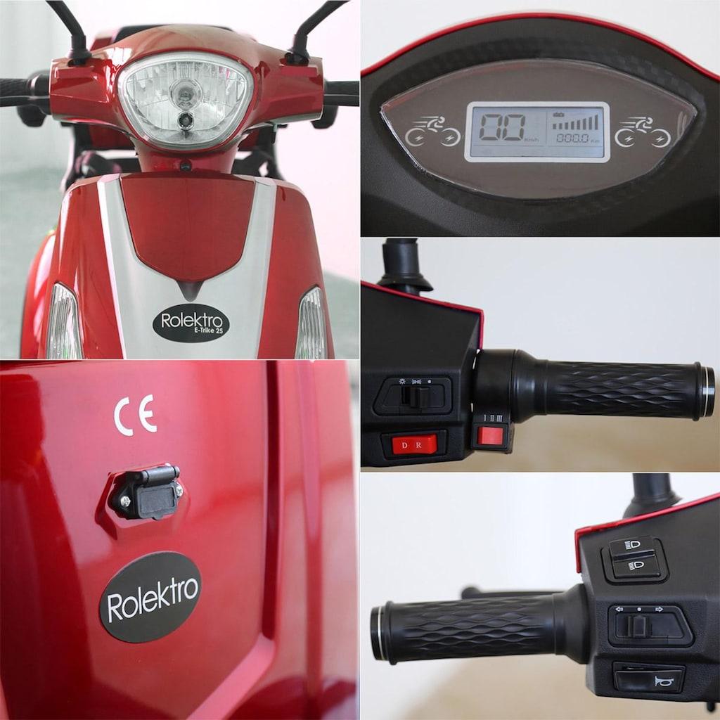 Rolektro Elektromobil »E-Trike 25 V.2«, 1000 W, 25 km/h