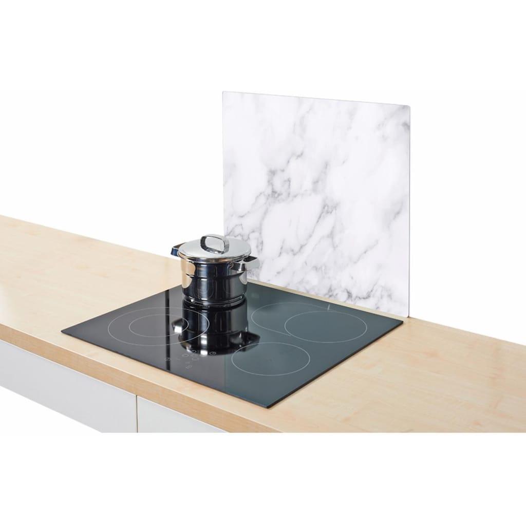 Zeller Present Herdblende-/Abdeckplatte »Marmor«, (1 tlg.), Silikonfüßen