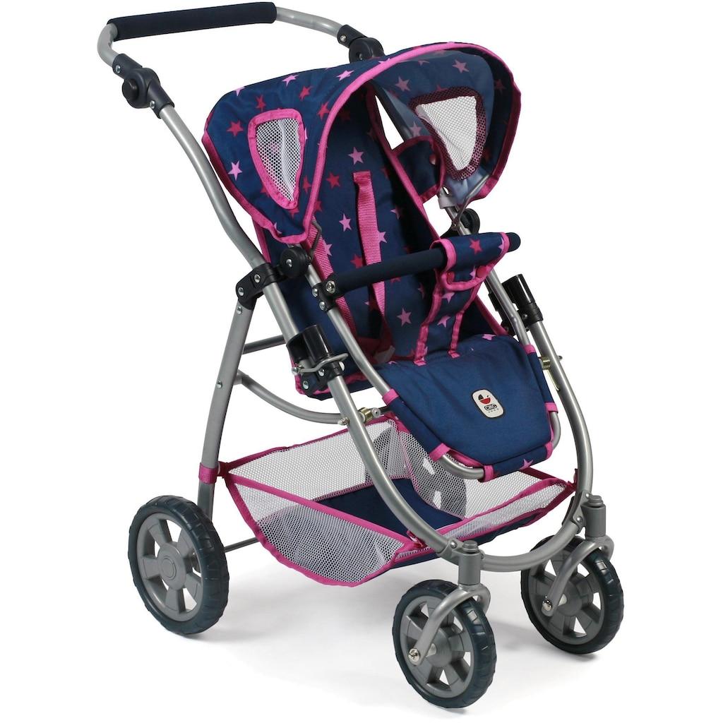 CHIC2000 Kombi-Puppenwagen »Emotion All In 3in1, Stars marine«, inkl. Babywanne, Babyschale und Sportwagenaufsatz