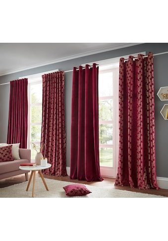 my home Vorhang »Velvet uni«, Samt kaufen