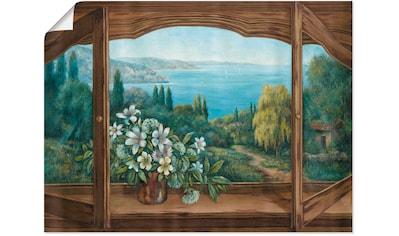 Artland Wandbild »Ausblick auf´s Meer«, Fensterblick, (1 St.), in vielen Größen & Produktarten - Alubild / Outdoorbild für den Außenbereich, Leinwandbild, Poster, Wandaufkleber / Wandtattoo auch für Badezimmer geeignet kaufen