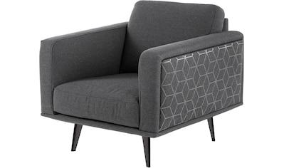 Villeroy & Boch Sessel »MIRA CARRÉ«, mit Metallfuß, designed by Wilhelm Bolinth kaufen