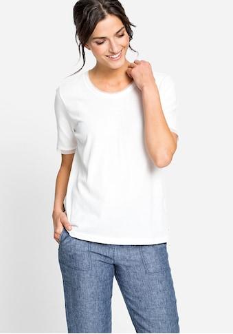 Olsen Rundhalsshirt, mit Abschlüssen aus Netzqualität kaufen