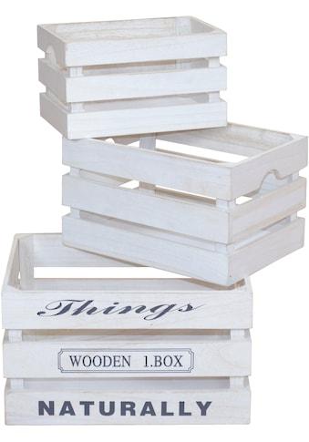 Holzkiste (Set, 3 Stück) kaufen