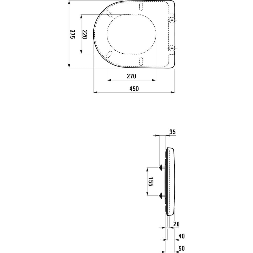 Laufen WC-Sitz »Laufen Pro«, Duroplast, belastbar bis maximal 150 Kg