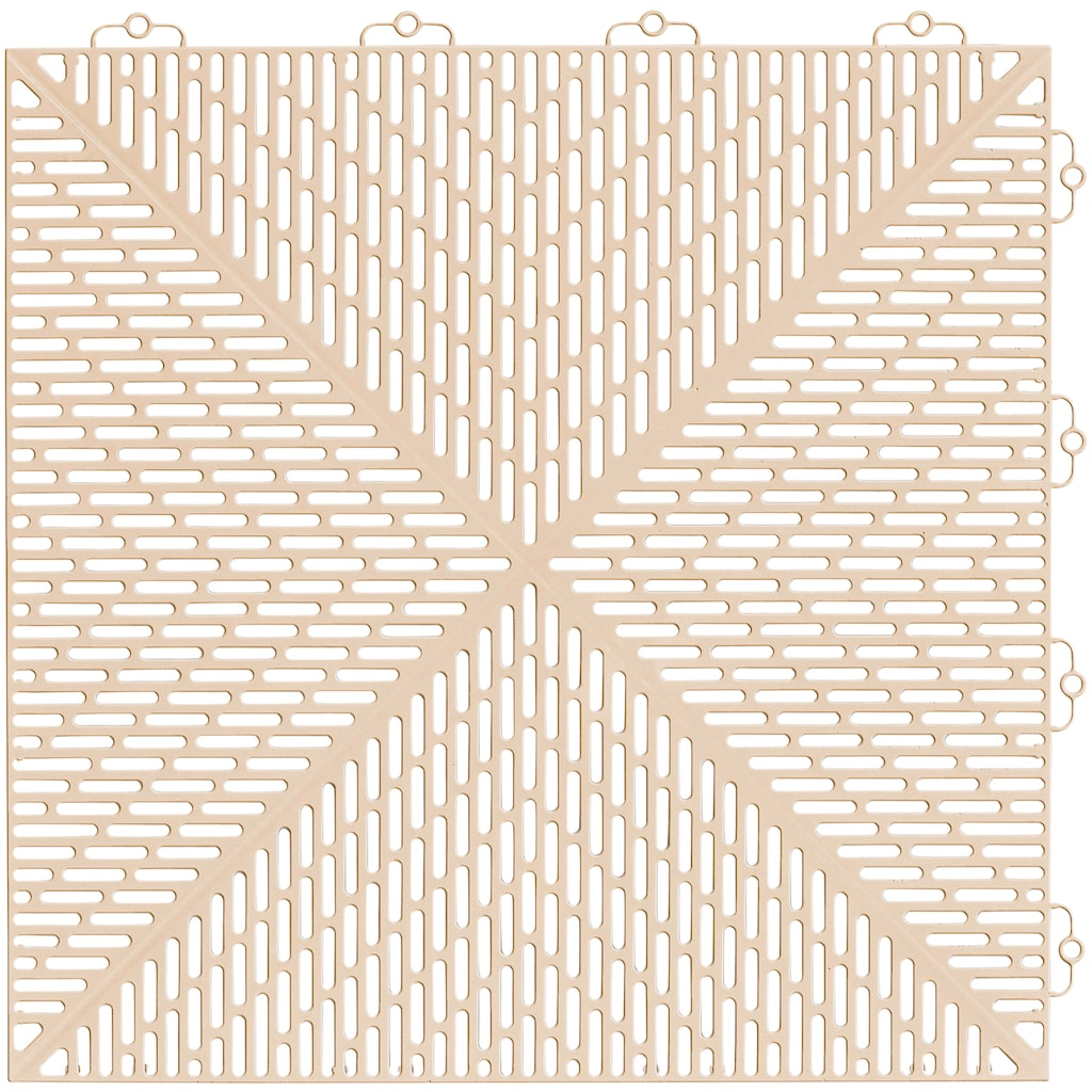 Bergo Flooring Terrassenplatten »Unique Sand«, Kunststofffliesen, einfach ineinanderstecken, 2m²