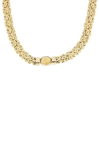 Firetti Goldkette »Königskettengliederung, glänzend, flach, beidseitig bombiert, facettiert in der Mitte«, mit Citrin kaufen
