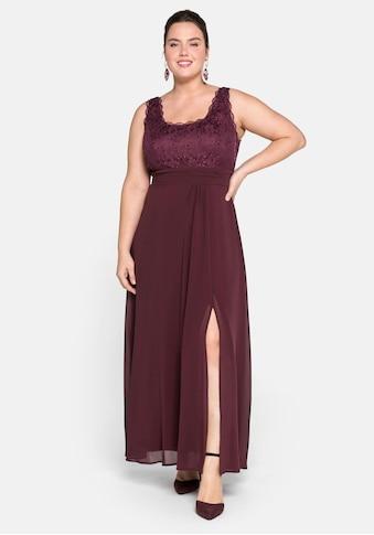 Sheego Abendkleid, mit floraler Spitze kaufen