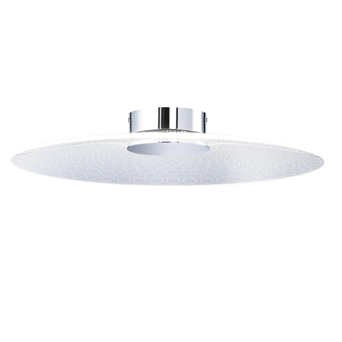 WOFI LED Deckenleuchte Coco, LED-Board, Warmweiß