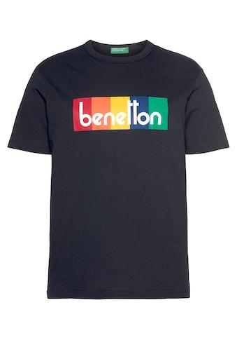 United Colors of Benetton T-Shirt, mit Logofrontprint kaufen