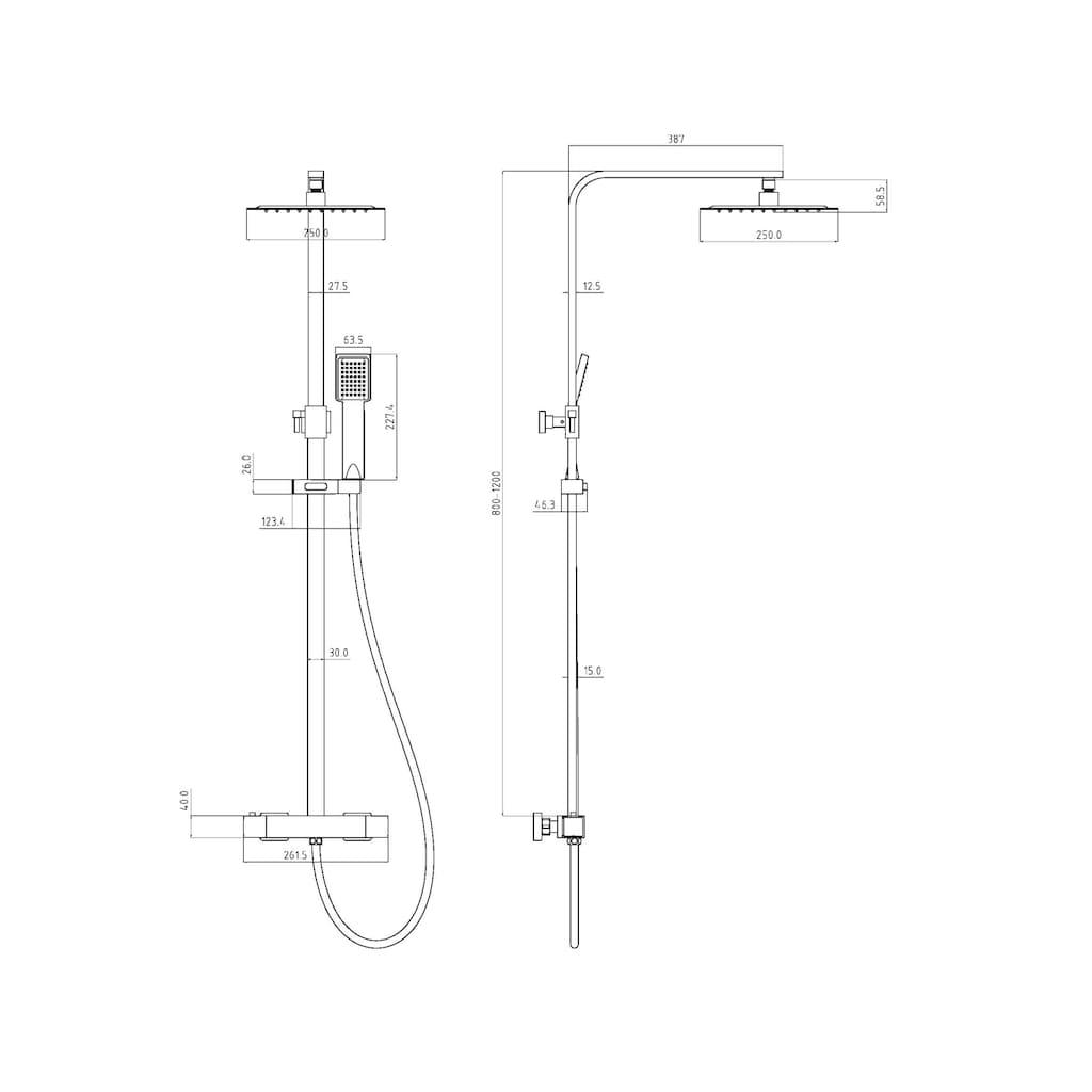 Eisl Duschsystem »CALVINO«