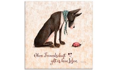Artland Glasbild »Lebensweisheit Freundschaft«, Tiere, (1 St.) kaufen
