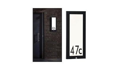 Paulmann,LED Außen - Deckenleuchte»Panel Hausnummer 20x60 cm IP44 13W 230V Anthrazit mit Bewegungsmelder«, kaufen