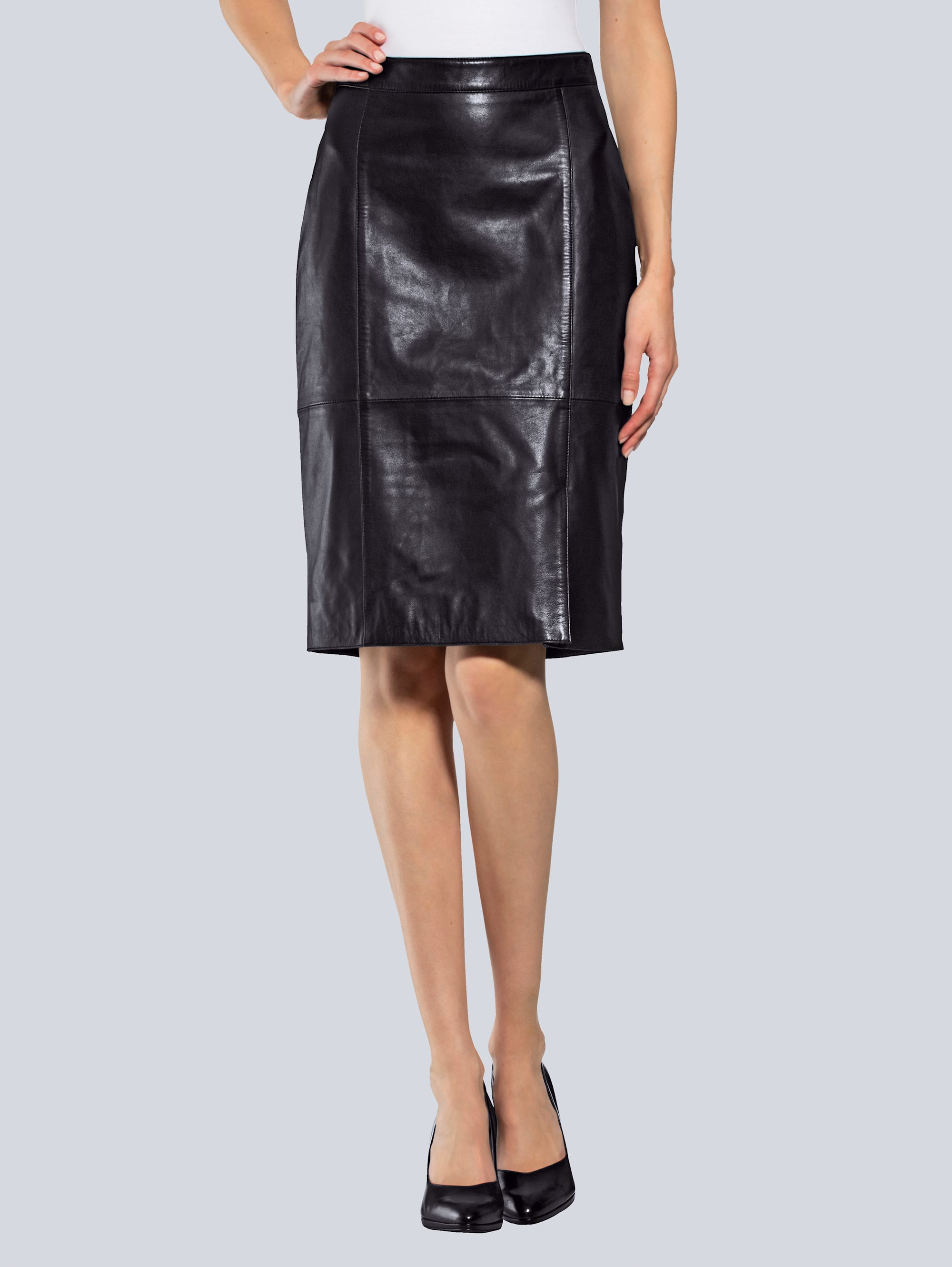 alba moda -  Lederrock aus hochwertigem Lammnappaleder